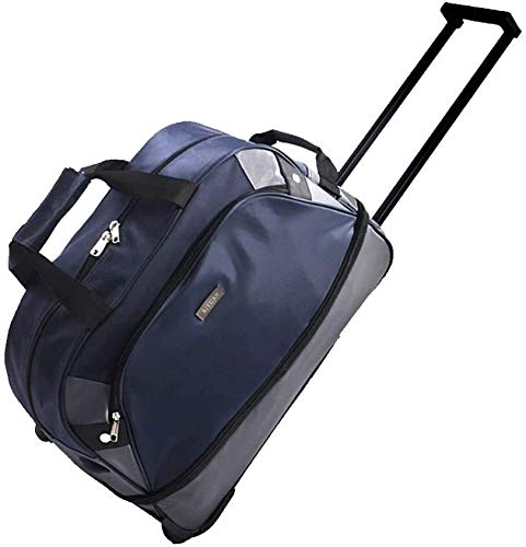 GQY Trolley - Trolley suitcase bag - bag luggage with wheels weekend (Color : Bleu, Size : 50 * 25 * 35cm)