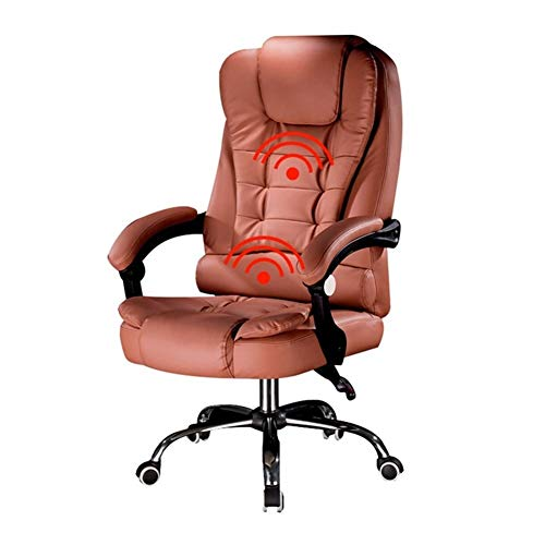 Logo JSNRY Boss Computerstuhl, Bürostuhl, Massagesessel, verstellbar, bequemer Stuhl (Farbe: Bernstein, ohne Fußstütze)