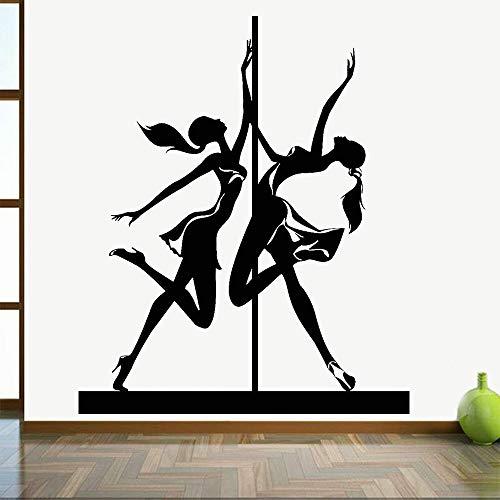 Crjzty Tänzerin Striptease Girl Room Und Striptease Pole Dance Musik Grandora Wandtattoo Wort Selbstklebendes Vinyl Für Baby- Und Kinderzimmerdekoration 68x57cm