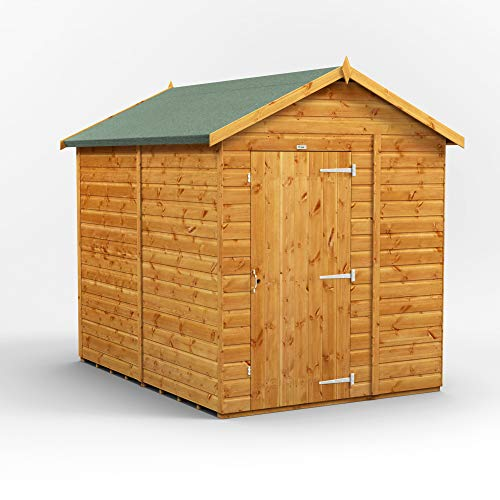 POWER | 8x6 Apex Windowless Wooden Garden Shed | Size 8 x 6 Wood Shed No Windows | Super Fast Delivery