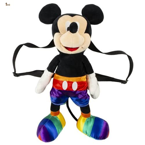 BricoLoco - Zaino in peluche Topolino con bandiera orgoglio gay lgtbi zaino asilo scuola piscina spiaggia regalo originale