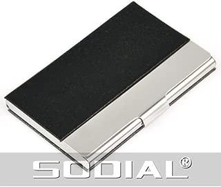 Big giallo nero R SODIAL colore alluminio del metallo di identificazione di affari della cassa della carta di credito del raccoglitore del supporto della borsa del Pocket Box