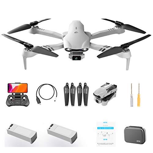 QUANXI Drone F10 com Câmera 6K HD, Drone Dobrável 5G FPV, WiFi Quadrocopter RC Grande Angular de 120 ° / Longo Tempo de Voo /3D Flip / Pouso de Emergência, Modo sem Cabeça para Iniciantes (2 * baterias)