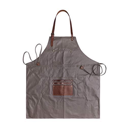 Retro-Schürze Des Craftsman Design-Raumsegeltuchschonens Abriebfeste Schabende Wasserdichte Kaffeestube-Schürze Aus Gummi,Armygreen-OneSize