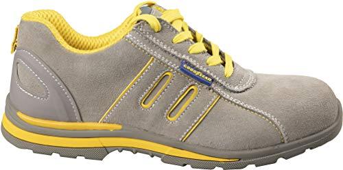 Goodyear Zapatos Seguridad Calzado S1P Metal Free Cuero Gamuza TG.43 - Beis, TG.42