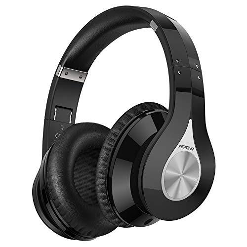 Mpow 059 Cuffie Bluetooth 5.0, Cuffie Wireless con Autonomia 100 Ore, Cuffie Over Ear Nuova Versione, Microfono incorporato CVC6.0, Fascia Morbida Pieghevole, Qualità Audio Hi-Fi per TV/Cellullari/PC