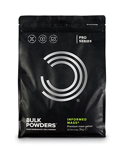 BULK POWDERS Informed Mass, High Calorie Mass Gainer, Whey Protein Shake, Double Chocolate, 3 kg