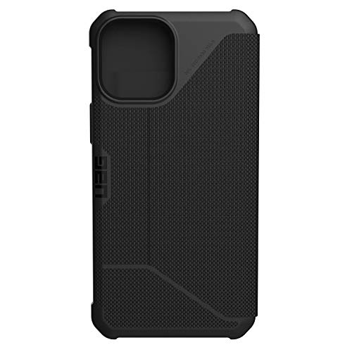 Urban Armor Gear UAG Millenium 3 Flip Folio Cover with Card Slots and Viewing Stand Feather-Light Rugged Metropolis Protective Cover, Fibr Armr Black