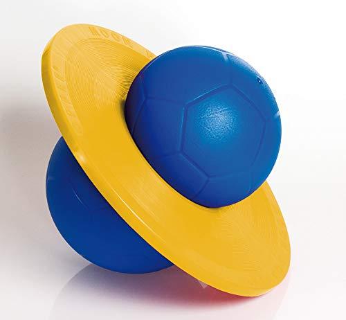 Hüpfball Moonhopper, blau/gelb, bis 45 kg belastbar
