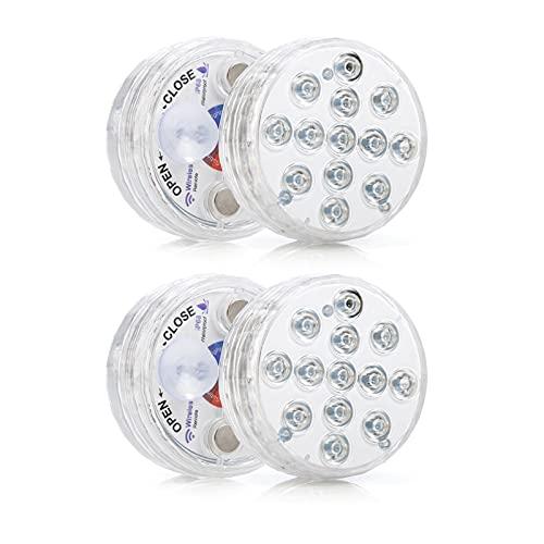 Dompelbaar LED Licht met RF Afstandsbediening Magneten Zuignaps Batterij Operated 16 RGB Kleuren IP68 Waterdichte…