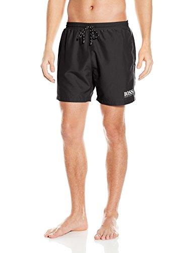 Hugo Boss BOSS Men's Medium Length Quick Dry Swim Trunks, Black