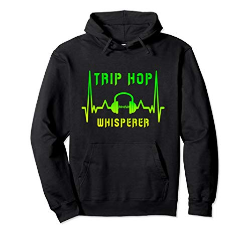 Trip Hop Kopfhörer Herzschlag Musik Design / Geschenkidee Pullover Hoodie