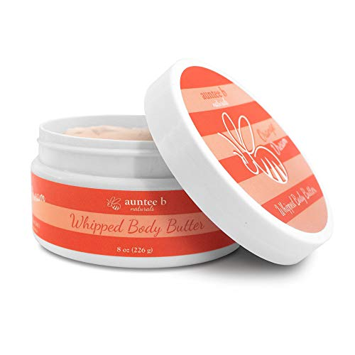 All Natural Whipped Body Butter (Orange Dream) by Auntee B Naturals | Made with Shea Butter, Mango Butter, Coconut Oil, Kokum Butter | Nourishes and Moisturizes Dry Skin | Vegan and Cruelty-Free