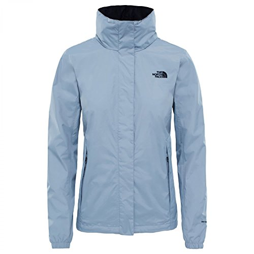 North Face W Resolve 2 JKT Jacke, Damen, Mid Grey/TNF Black, L