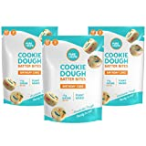 Plant Based Cookie Dough Batter Bites by Pure Crumb – Edible No Bake Snack, Low Sugar (1g), Keto Friendly, Vegan, Gluten-Free, Dairy-Free (Birthday Cake, 3.46 Ounce (Pack of 3))