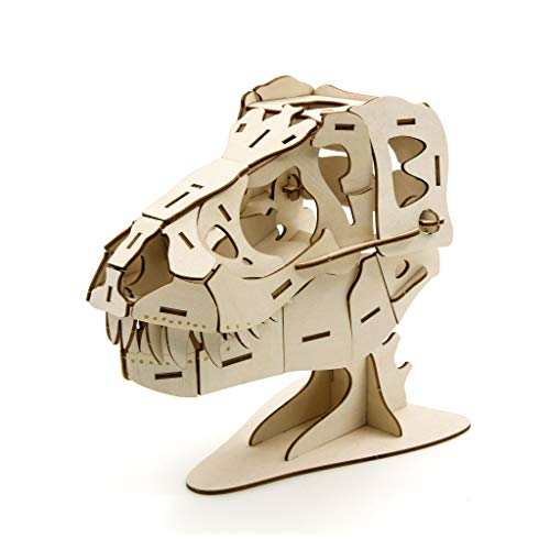 Team Green JIGZLE 2mm Plywood Wooden 3D Assembly Puzzle for Teens and Adults Models Craft Kits DIY Figures Toys - Lifestyle Collection - T-Rex Accessory Case