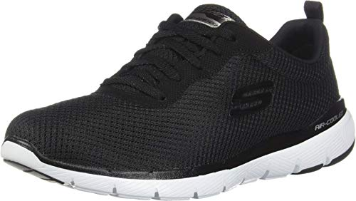 Skechers Women's FLEX APPEAL 3.0 Trainers, Black (Black White BKW), 6 UK 39 EU