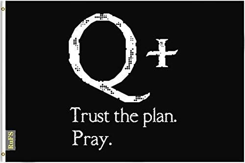RuFS QAnon Trust The Plan Pray Gartenhaus einseitig Polyester Zeichen Outdoor Banner Außenwand Innenhof Banner Dekor