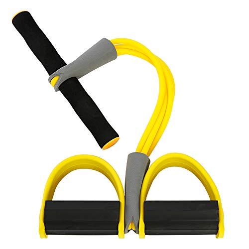 ILYPRO Fitnessbänder mit Griff/Pedal Widerstandsband Trainingsbänder Elastische Fitness Gummiband Zuhause Übungsband Beintraining Oberschenkeltraining Bauchmuskeltraining Bizepstraining Bodybuilding