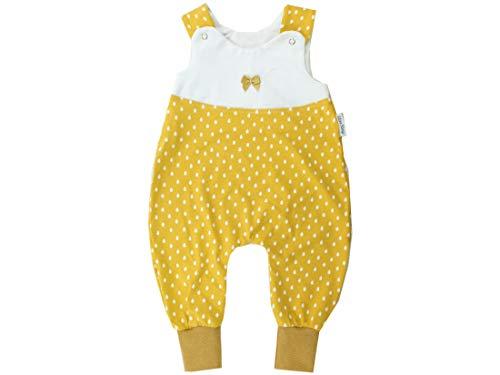 Kleine koningen baby rompertje meisje baby body · model regendruppels geel regendruppels met strik, glitter goud · Ökotex 100 gecertificeerd · maten 50-92