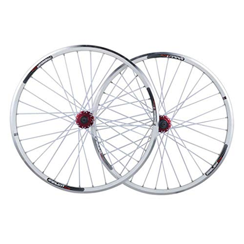 TYXTYX Juego de Ruedas de Bicicleta de 26 Pulgadas V-Brake / (Freno de Disco) Llanta de Doble Pared para Bicicleta de montaña híbrida de 7/8/9/10 de Doble Uso Compatible