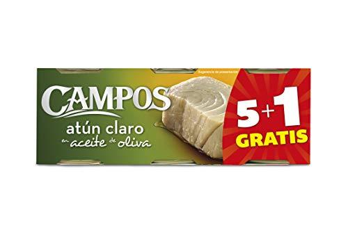 Campos, Conserva de atún claro pack de 6 latas de 80 g