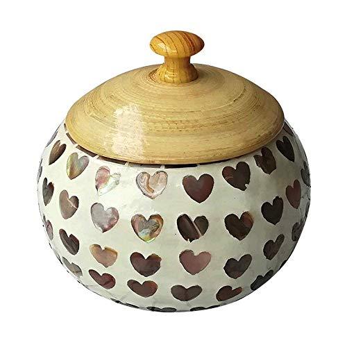 Urna funeraria, ataúd para mascotas, urna de bambú natural para gatos / perros, monumento de cremación de animales y colección de lápidas / cilindro sellado decorativo para entierro, L (tamaño: 14.5X1