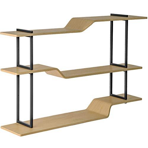 Wandstelling Åry Home - eiken & staal - Jesper Ståhl - verstelbaar - Zweeds design - zwevende plank - industrieel ontwerp - FSC-gecertificeerd - Made in Sweden 80x52x27,5 cm eiken