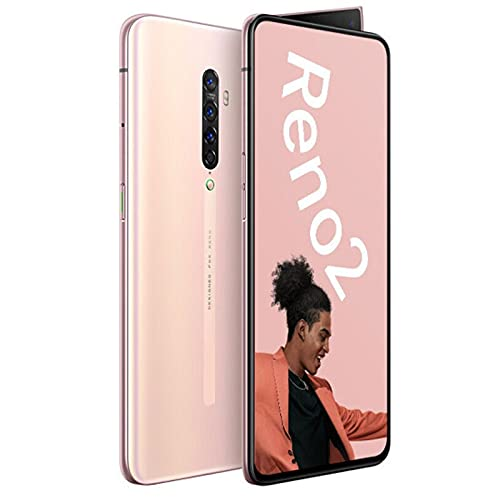 HJFGIRL Teléfono Móvil, Reno2 6,5 Pulgadas 8GB RAM+128GB ROM Batteria de 4200mAh Cámara cuádruple Smartphone Android 10.0 Dual SIM Soporte de Face ID NFC,B-AU