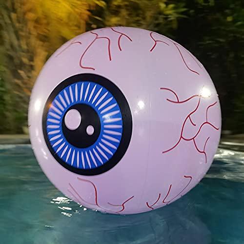 Yadaln Decoraciones De Halloween Inflables Ojos, Bloodshot Eyeballs Floating Pool Lights Adecuado para Jardín, Fiesta, árbol, Patio, Interiores Y Exteriores