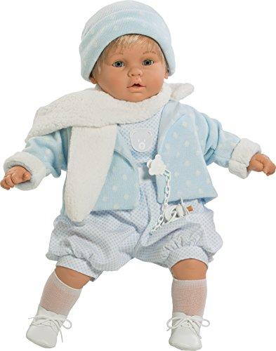 Berbesa- Muñeco Baby dulzón, con Traje Azul y Bufanda (80351)