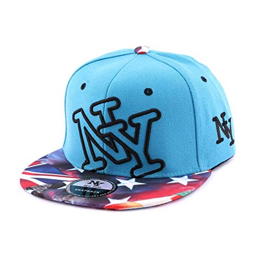 Hip Hop Honour Snapback NY Bleu Vintage Drapeau US - Mixte