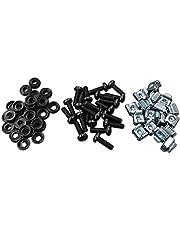 Tornillos y arandelas para tuercas de montaje en rack