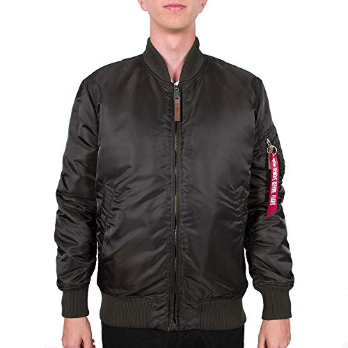 ALPHA INDUSTRIES MA- 1 VF 59 Long Giacca, Verde, S Uomo
