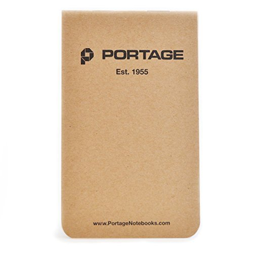 Portage Field Notebook Tactical Sized Pocket Notepad - Top Bound Notebook with Lined Paper Lies Flat...