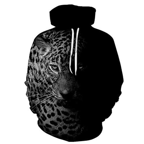 XDJSD Sudadera Suéter para Hombre Suéter con Capucha Sudadera con Estampado De Leopardo Sudadera con Capucha Y Estampado Animal para Hombre Suéter De Gran Tamaño para Hombre