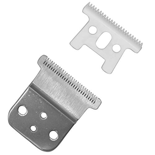 AIRERA Pro Li Trimmer - Cuchilla en T de repuesto # 32105 - D7 # 32655 D8 # 32400-Cuchilla de cerámica, cuchilla de acero al carbono, compatible con Andis D8 Slimline Pro Li Hair Trimmer (Plat