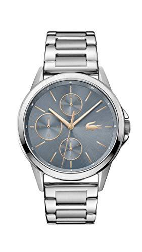 Lacoste Damen Analog Quarz Uhr mit Edelstahl Armband 2001112