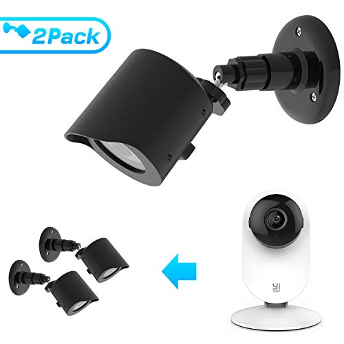 Wall Mount for YI Home Camera, Basstop 360 Degree Swivel Bracket Holder Case Cover for YI 1080p/720p Home Camera Outdoor&Indoor Weatherproof High Grade Plastic Housing
