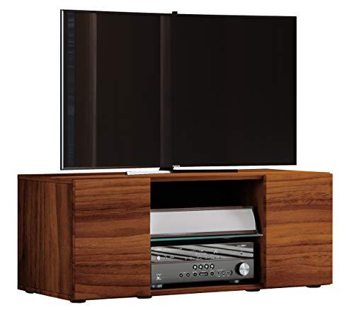 VCM TV Lowboard Fernseh Schrank Möbel Tisch Holz Sideboard Medien Rack Bank Kern-nussbaum 40 x 95 x 36 cm