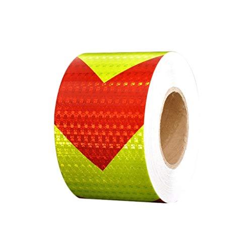 LXESWM Reflektierendes Klebeband Leuchtendes, Warnband, Reflektierendes Band, Schwarz, Gelb, Zebra Linie Warnung Zeichen Kennzeichnung Absperrband (Farbe : Red Yellow, Size : L35m×w10cm)