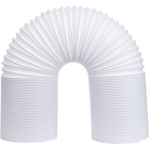 Kuizhiren1 - Tubo di sfiato per aria condizionata, prolunga telescopica, flessibile, tubo di sfiato, 13 cm/15 cm di diametro, PP, bianco, 150mm x 3m
