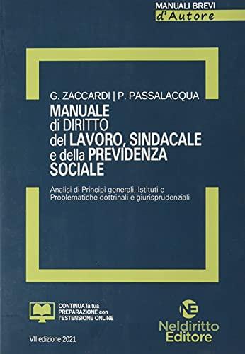Manuale di diritto del lavoro, sindacale e della previdenza sociale