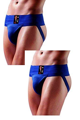 AllsBalls Jock Gym Baumwolle Supporter mit Cup Pocket–Gym, Fitness & Outdoor Innen tragen Soft Unterhosen, Herren, 2 Pack Navy Blue, XX-Large