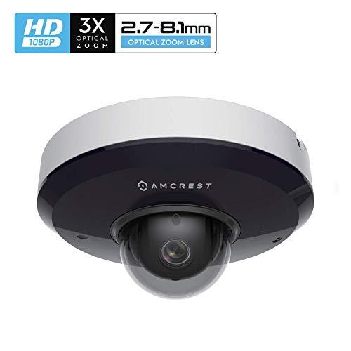 Amcrest ProHD 1080P PTZ IP PoE Überwachungskamera, 2 MP Vandalendom (3fach optischer Zoom) IK08 Vandalensicher, IP66-wetterfest, Nachtsicht, Schwenk- / Neigefunktion (IP2M-866EW) (Weiß)