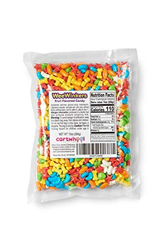 Wee Winkers Fruit-Flavored Bright ColorfulHard Candy In Assorted shapes,10 oz Bag, Vending Machine Candy, Bulk Loose Candy, Candy For Machine Refill, Unwrapped Candy, Loose Candy