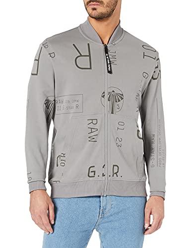 G-STAR RAW Mens All Over Baseball Tweeter Sweatshirt, Charcoal Extreme C798-C547, XXL