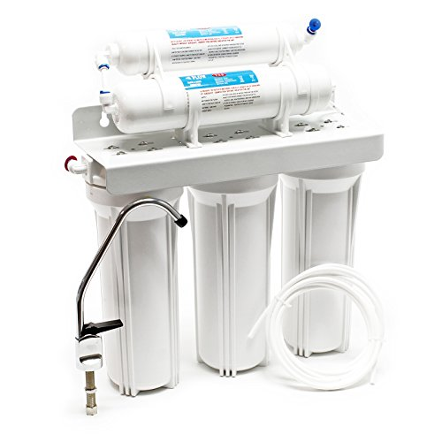 Naturewater NW-PR305 5-Stufenfilter mit Wasserhahn, 2.5m Schlauch, Kurzdreiwegeventil und Kugelhahn