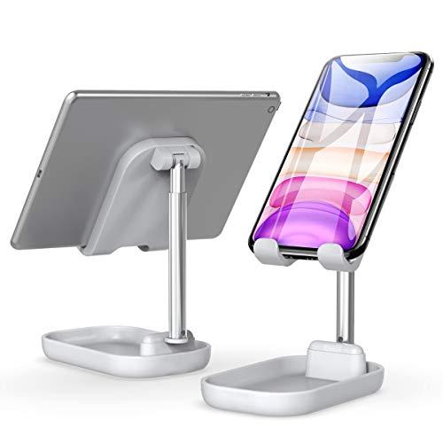 スマホスタンド 卓上 Ibesta タブレットスタンド スマホホルダー ipad スタンド 角度高度調整可能 折り畳み式 携帯/収納便利 滑り止め コンパクト 4-8インチ