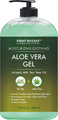 Aloe vera gel from 100 percent Pure Aloe Infused with Tea...